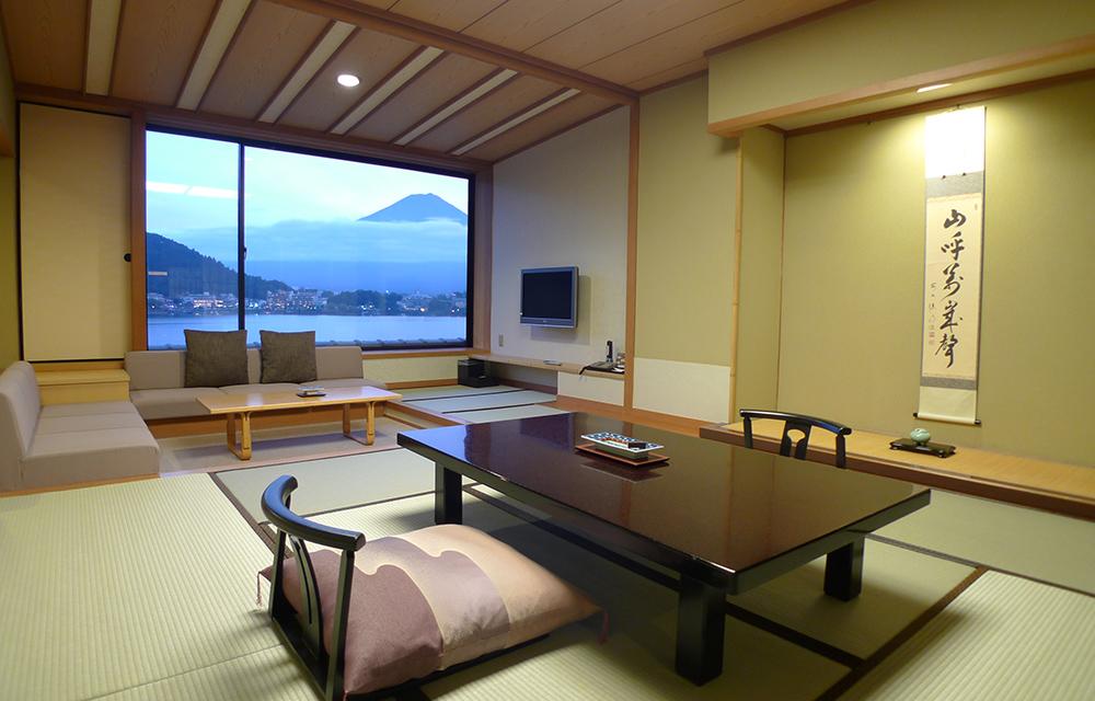 所有客房均可眺望富士山