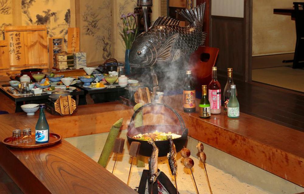 囲炉裏料理(イメージ)